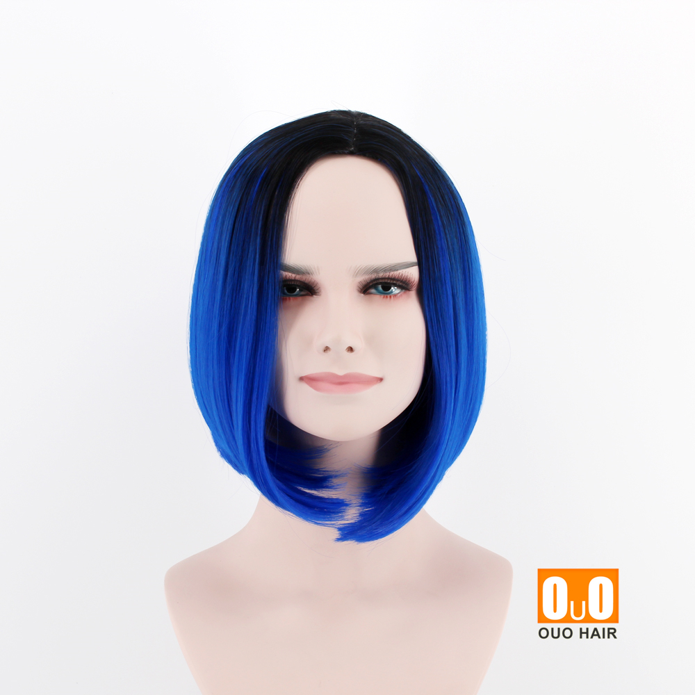 Europe and the United States new fashion wig short hair breathable ...