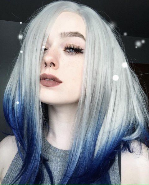 Wonmen S Wig Short Long Hair Front Lace Wig Gery Omber Blue Fiber Synthetic Wig Human Hair Wigs Hair Extensions Synthetic Wigs Cosplay Wig Ouo Hair