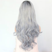 Beauty-Town-Ombre-Black-To-Light-Blue-Natural-Hairline-Heat-Resistant-Fiber-Hair-Glueless-Synthetic-Front
