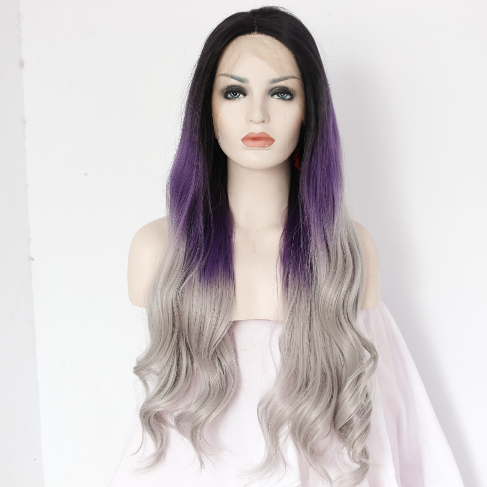 Lace Wig Fashion Wig Womens Wig Front Lace Wig Long Wavy Black