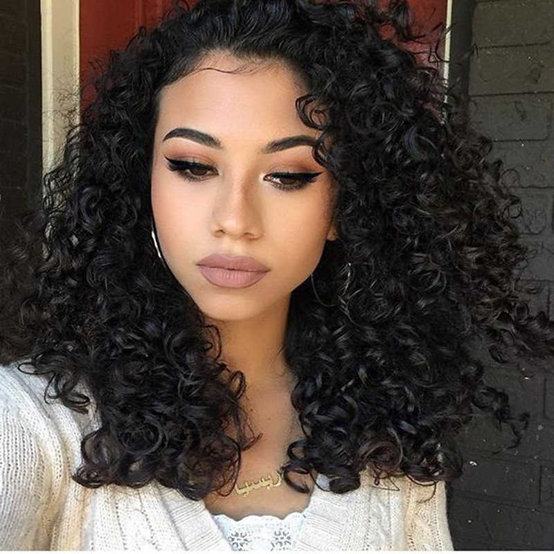 Synthetic Lace Front Wig Jerry Curly Natural Hairline Lace Front