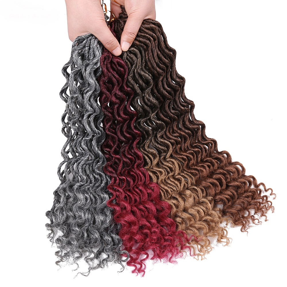 18inch Faux Locs Curly Hair Extensions Synthetic Crochet Braids