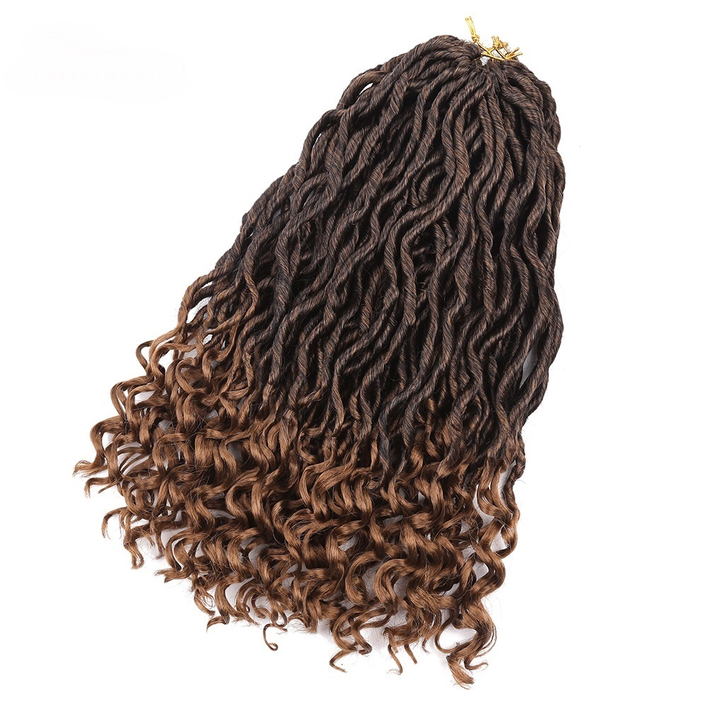 18inch Crochet Braids Faux Locs Curly Heat Resistant Synthetic Hair