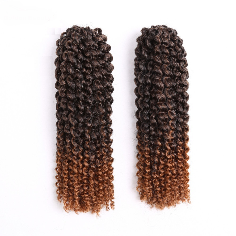 12inch Crochet Braid Hair Extensions Ombre Curly Synthetic Braiding
