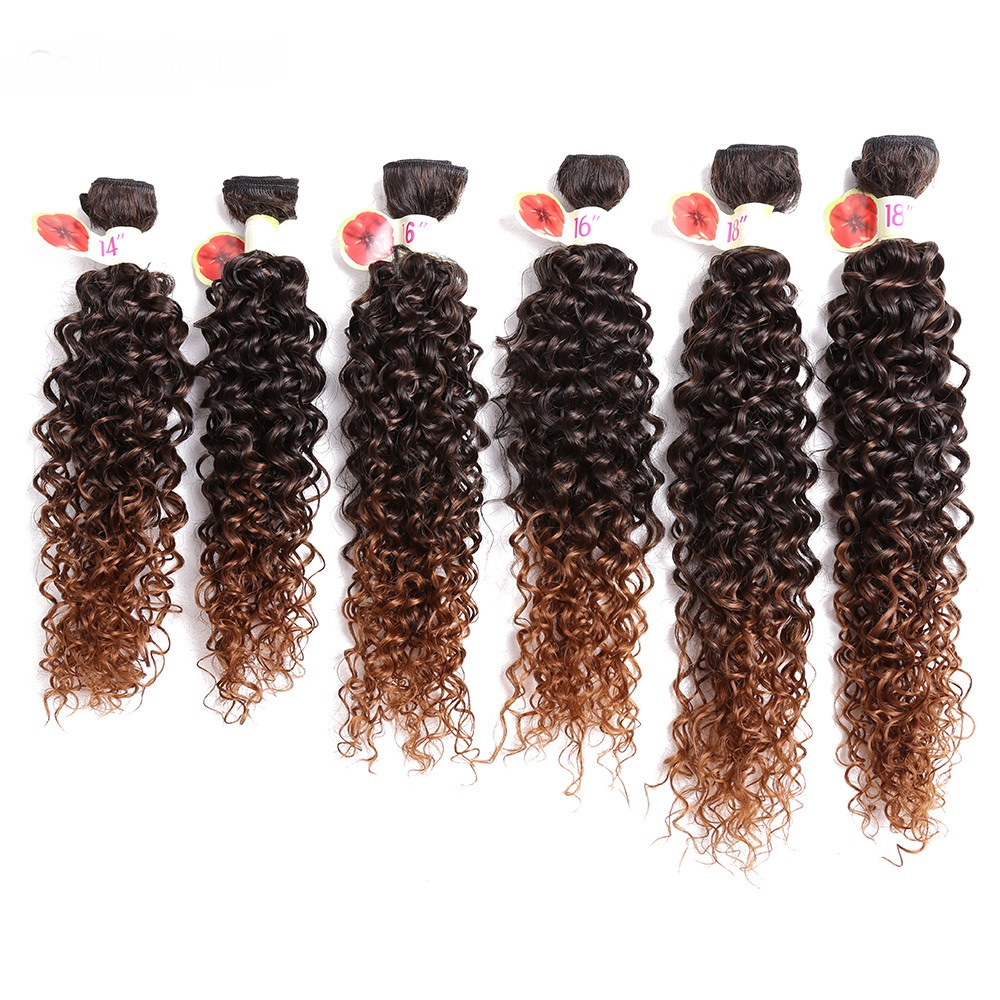 14 18inch Curly Weave Synthetic Hair Extensions Sew In Hair Weave