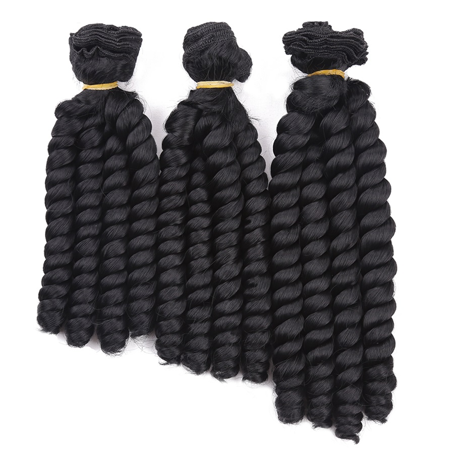 8inch Bouncy Curly Hair Heat Resistant Synthetic Hair Weave Sew In
