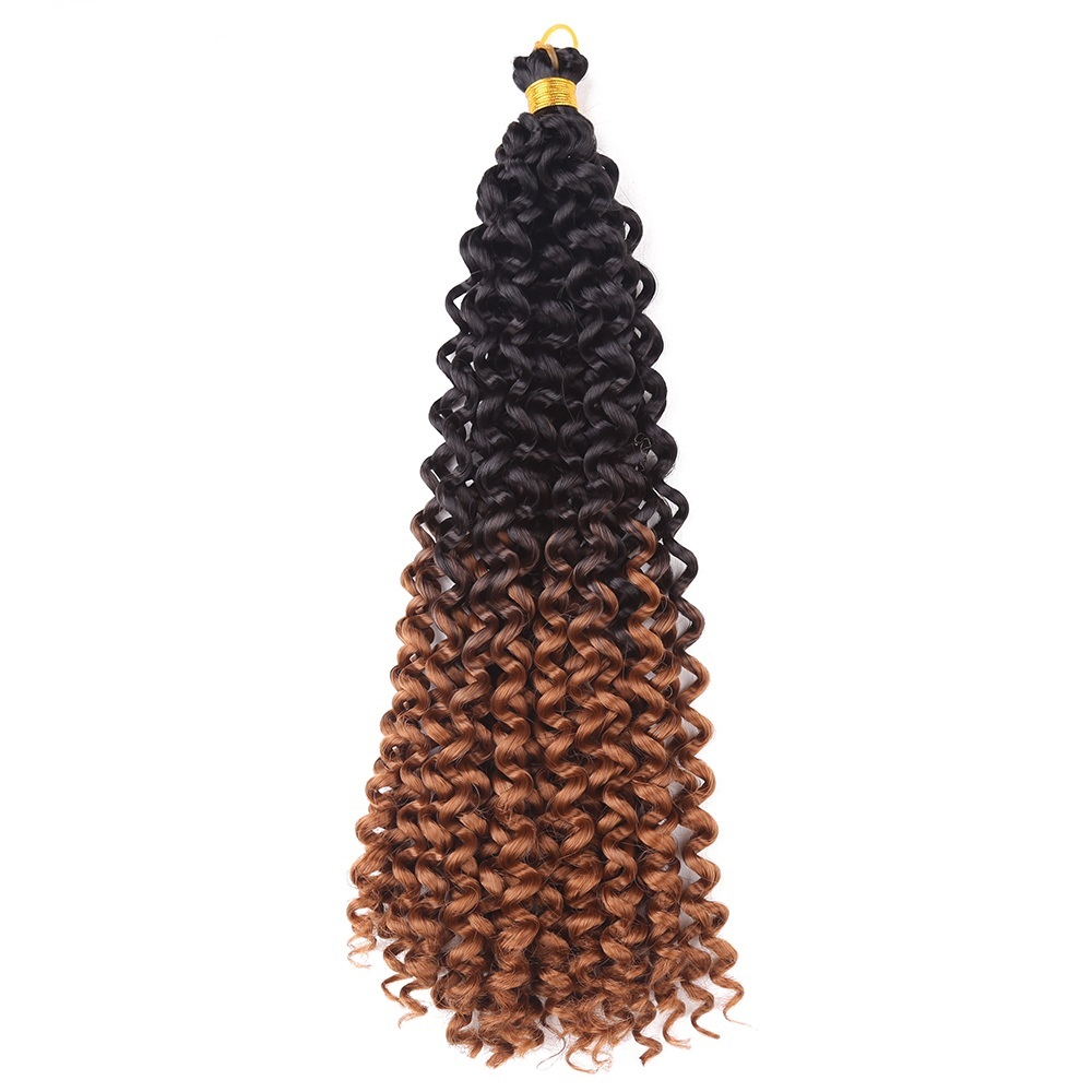 14inch Crochet Braid Hair Water Wave Synthetic Hair Extensions Ombre